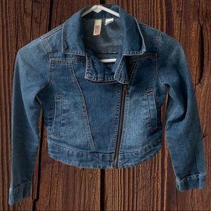 Girls Denim crop Jean Jacket